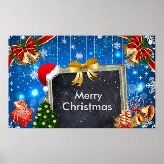 Cadeaux de Bells de Noël et affiche de décoration