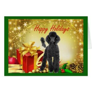 Cadeaux de carte de Noël de caniche