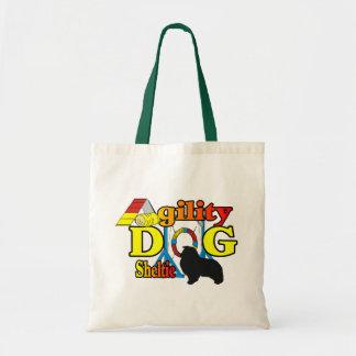 Cadeaux de chien de berger de Shetland d'agilité Tote Bag