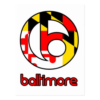 Cadeaux de coutume de Baltimore Carte Postale
