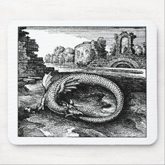 Cadeaux de dragon d'Ouroboros - tapis de souris