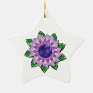 Cadeaux de fleur d'améthyste ornement étoile en céramique