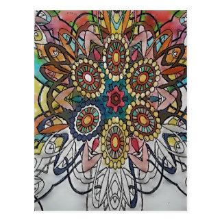 Cadeaux de page de coloration de mandala cartes postales