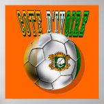 Cadeaux de passionés du football de logo de divoir poster