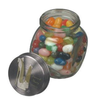 Cadeaux de pot de dragée à la gelée de sucre de pot en verre