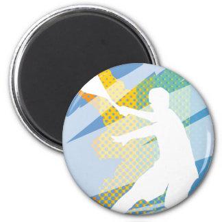 Cadeaux de tennis pour des joueurs de tennis et de magnet rond 8 cm