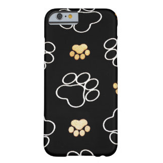 Cadeaux d'empreintes de pattes de chiot de chien coque iPhone 6 barely there
