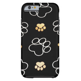 Cadeaux d'empreintes de pattes de chiot de chien coque iPhone 6 tough