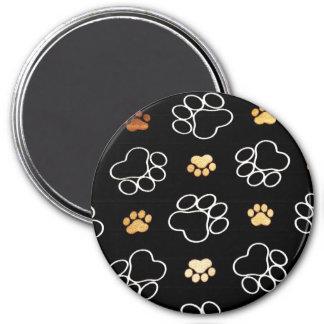 Cadeaux d'empreintes de pattes de chiot de chien p aimant