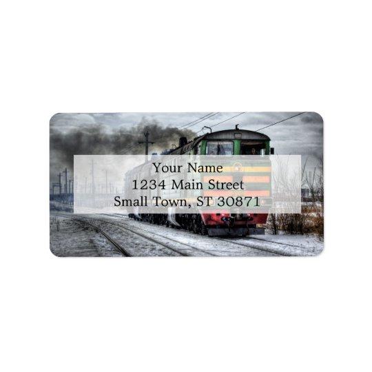 Cadeaux diesel de locomotive de train étiquette d'adresse