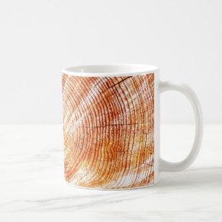 Cadeaux en bois rustiques de conception d'anneaux mug