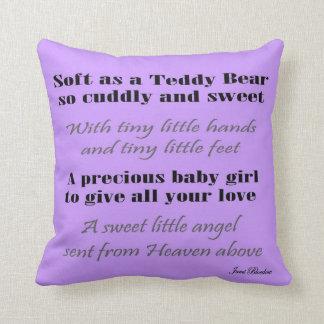 Cadeaux faits sur commande de baby shower de bébé coussin
