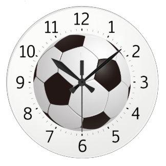 Cadeaux frais chics du ballon de football | grande horloge ronde