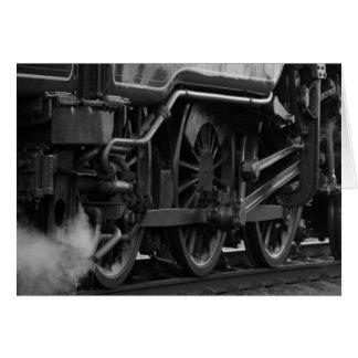Cadeaux locomotifs de train de machine à vapeur carte de vœux