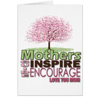 Cadeaux mignons pour des mères carte de vœux