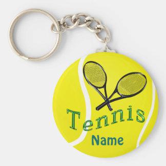 Cadeaux personnalisés d'équipe de tennis de porte porte-clés
