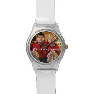 Cadeaux personnalisés pour la grand-maman - montres cadran