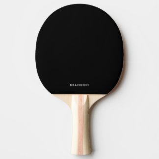 Cadeaux personnalisés pour la palette noire de raquette tennis de table