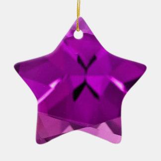 Cadeaux pourpres de février d'améthyste par ornement étoile en céramique