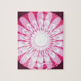 CADEAUX ROSES blancs de décorations de mandala de Puzzle