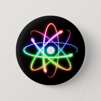 Cadeaux rougeoyants colorés de cool de geek de badge rond 5 cm