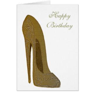 Cadeaux stylets vintages d'art de chaussure de carte de vœux