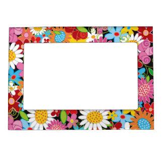 Cadre Aimanté Avec Photo Cadre floral lunatique de jardin de fleurs de
