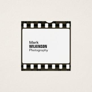 Cadre de négatif de bande de film carte de visite carré