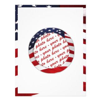 Cadre de photo de cercle de drapeau américain