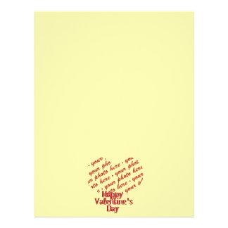 Cadre jaune de photo de Valentine de coeur Prospectus En Couleur
