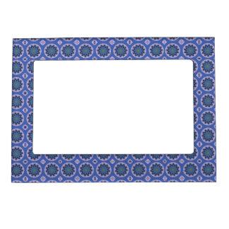 Cadre Magnétique Motif floral bleu
