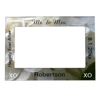 Cadre Magnétique Pour Photo Cadre de M. et de Mme White Floral Magnetic Photo