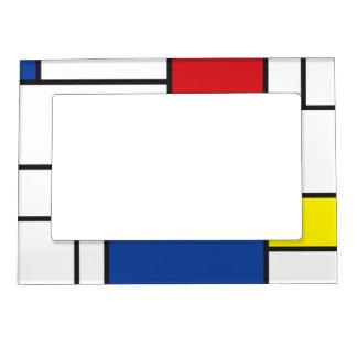 Cadre Magnétique Pour Photo Cadre minimaliste d'art moderne de Mondrian de
