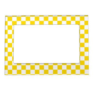 Cadre Magnétique Pour Photo Damier jaune