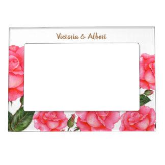 Cadre Magnétique Pour Photo Illustration botanique de roses roses d'aquarelle