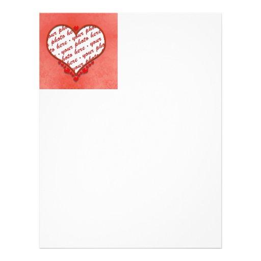 Cadre perlé de photo de coeur tract customisé