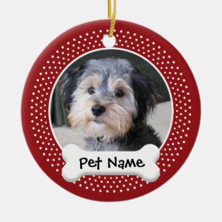 Cadre personnalisé de photo de chien - À SIMPLE FA Décoration Pour Sapin De Noël