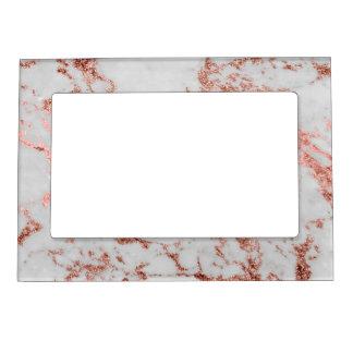 Cadre Photo Magnétique Image rose de texture de marbre de scintillement