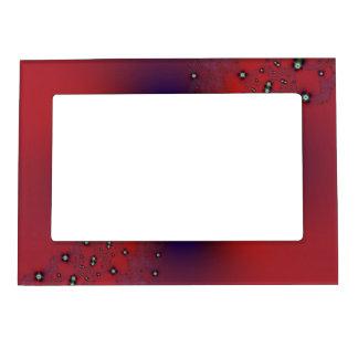 Cadre Photo Magnétique Jet floral sur le rouge