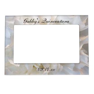 Cadres Magnétiques Pour Photo Oeillet blanc Quinceañera floral