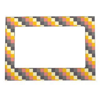 Cadres Photo Magétiques Motif abstrait de couleur de grille
