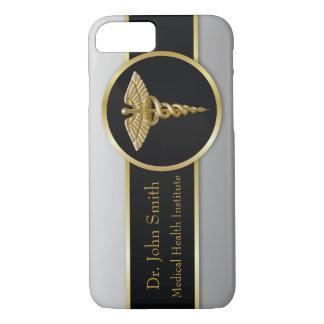 Caducée médical d'or - coque iphone