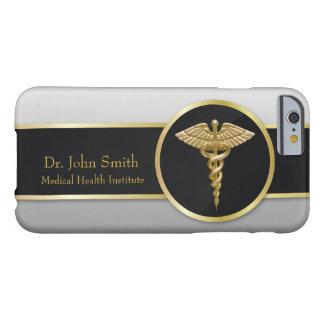Caducée médical professionnel d'or - coque iphone