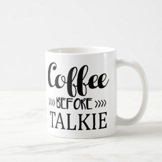 Café avant film parlant mug