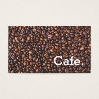 Café brun moderne de carte perforée de fidélité de