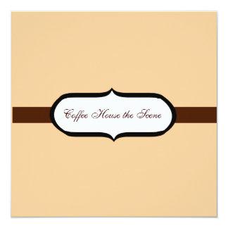 Café Carton D'invitation 13,33 Cm