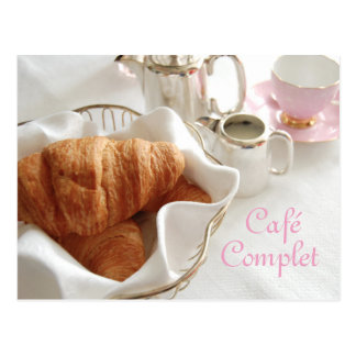 Café Complet, carte postale de petit déjeuner