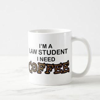 Café du besoin - étudiant en droit mug blanc