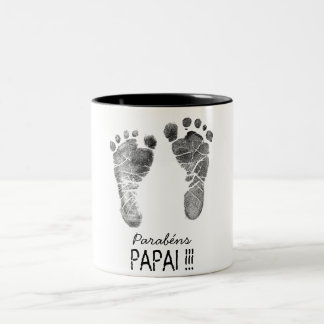 Café du papa mug bicolore
