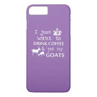 Café et chèvres coque iPhone 7 plus